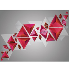 Red 3d Triangles vector image