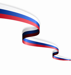 Russian flag wavy abstract background vector