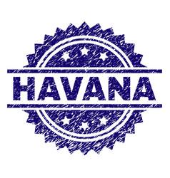Scratched textured havana stamp seal vector
