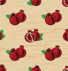 Seamless pomegranates backgrounds 01 vector