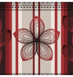 seamless vertical pattern with ornate vector image