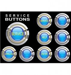 set buttons service vector image