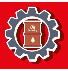Signal of barrel oil isolated icon design vector