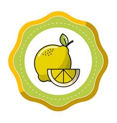 sticker lemon fruit icon stock vector image