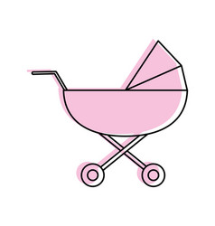 stroller baby related icon image vector image