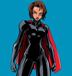 superheroine battle mode no mask vector image
