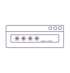 Switch computer icon vector