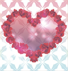 Template for card invitation for valentines day vector image