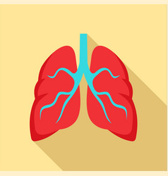 Tuberculosis lungs icon flat style vector