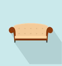 Vintage sofa icon flat style vector