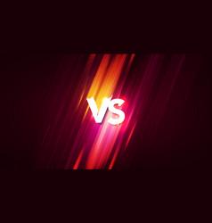 vs interface versus screen with speedlines vector image