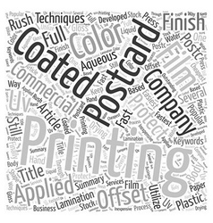 What is Offset Postcard Printing Word Cloud vector