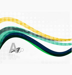 color overlapping wave stripes abstract vector image vector image