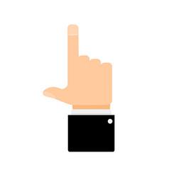 finger pointer up vector image