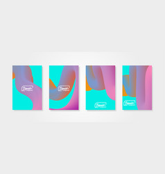 fluid shapes set of abstract backgroundswith vector image