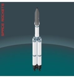 Isometric russian space rocket Angara vector image