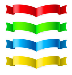 ribbons set on white for design vector image