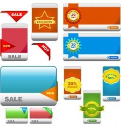 set of sale banner vector image