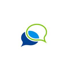 talk bubble chat logo vector image