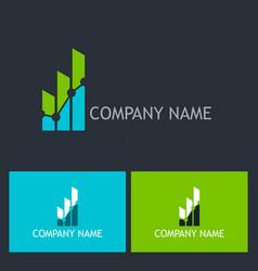 chart progress success company logo vector image vector image