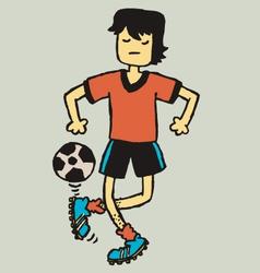 football freak vector image vector image
