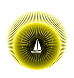Logo yacht club in yellow and black colors vector image vector image