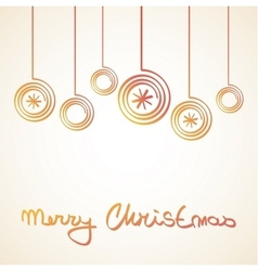 Merry Christmas Card with doodle balls vector image