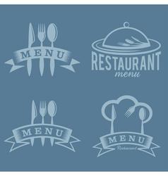 restaurant and menu elements set vector image