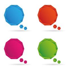 Set Low poly geometric speech bubble vector image vector image