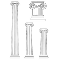 set of ionic column vector image
