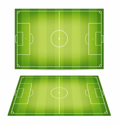 soccer field collection football fields with vector image