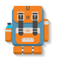 turistic travel backpack icon vector image