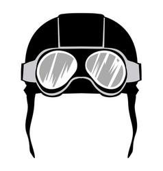 aviation helmet vector image