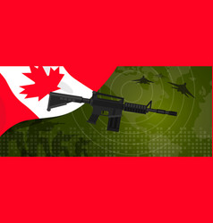 canada military power army defense industry war vector image