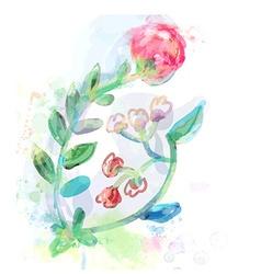Floral design element for card or inviration vector