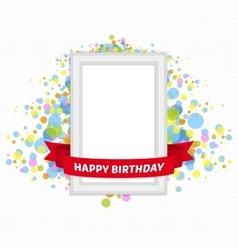 frame birthday vector image