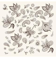 Indian Henna Design Elements vector image