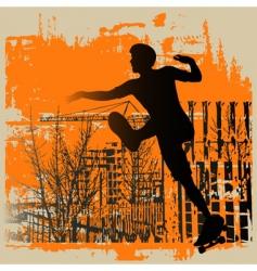 skate boy grunge vector image vector image
