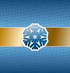 Christmas card with snowflake vector image