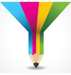 Creative info-graphic of pencil vector image vector image
