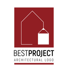 logo template for architectural vector image vector image