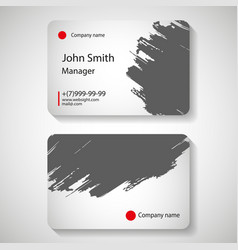 stylish business card template vector image