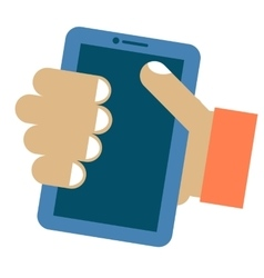Tablet in hand vector image vector image