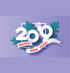 2019 new year design card on purple background vector