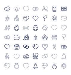 49 wedding icons vector