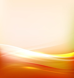 Abstract bright orange and flow background vector
