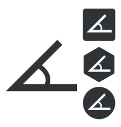 Angle icon set monochrome vector