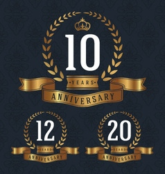 Anniversary decorative sign vector image