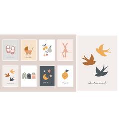 Baby children little kids cards posters vector
