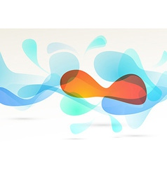 Bright abstract colorful elements flow background vector image